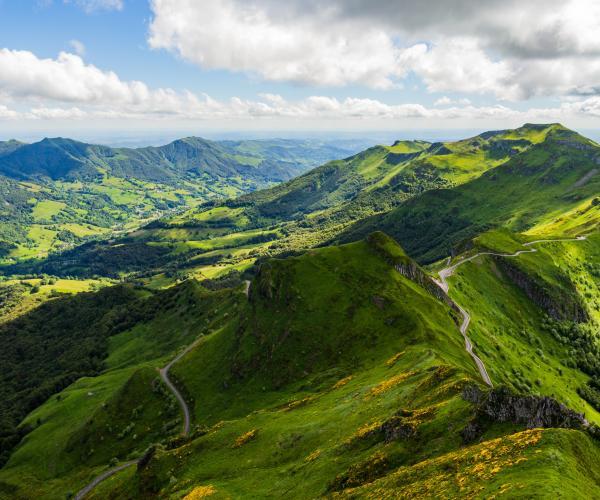 Auvergne : Massif du Sancy en étoile