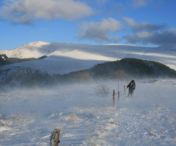 Auvergne : Les Volcans d'Auvergne en raquettes